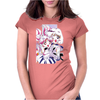 Sailor Chibi Moon and Saturn White Version Womens Fitted T-Shirt