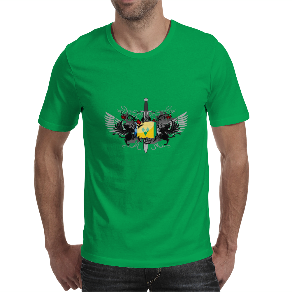 Saint Vincent and the Grenadines Island Crest Mens T-Shirt