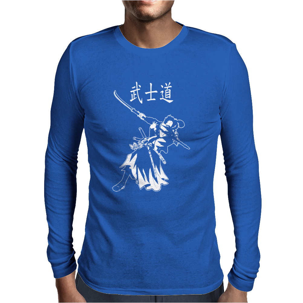 Samurai Bushido Mens Long Sleeve T-Shirt