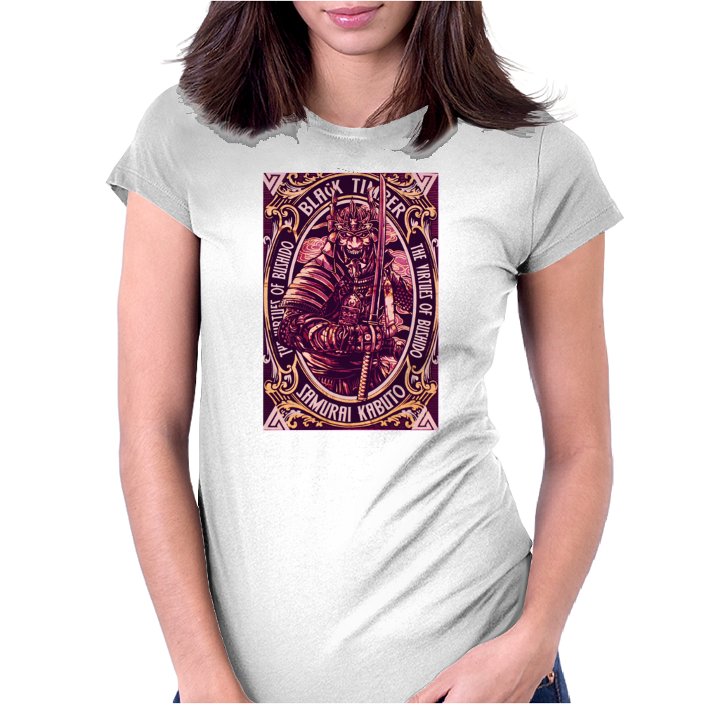 Samurai Kabuto The Virtues of Bushido 07 Womens Fitted T-Shirt