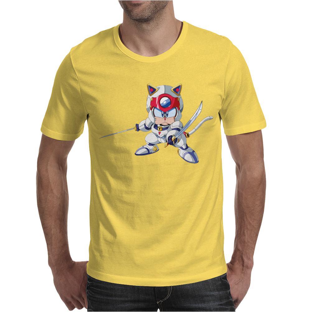 Samurai Pizza Cats Mens T-Shirt
