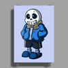 Sans Cartoon Style Poster Print (Portrait)