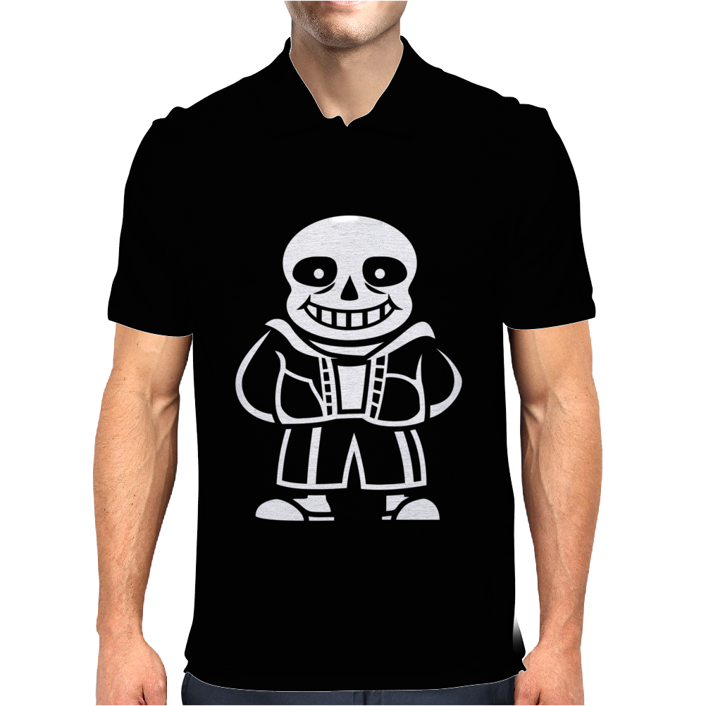 Sans the skeleton v2 Mens Polo