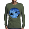 Santa And Reindeer Mens Long Sleeve T-Shirt
