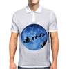 Santa And Reindeer Mens Polo