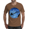 Santa And Reindeer Mens T-Shirt