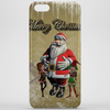 Santa Claus with elfes Phone Case