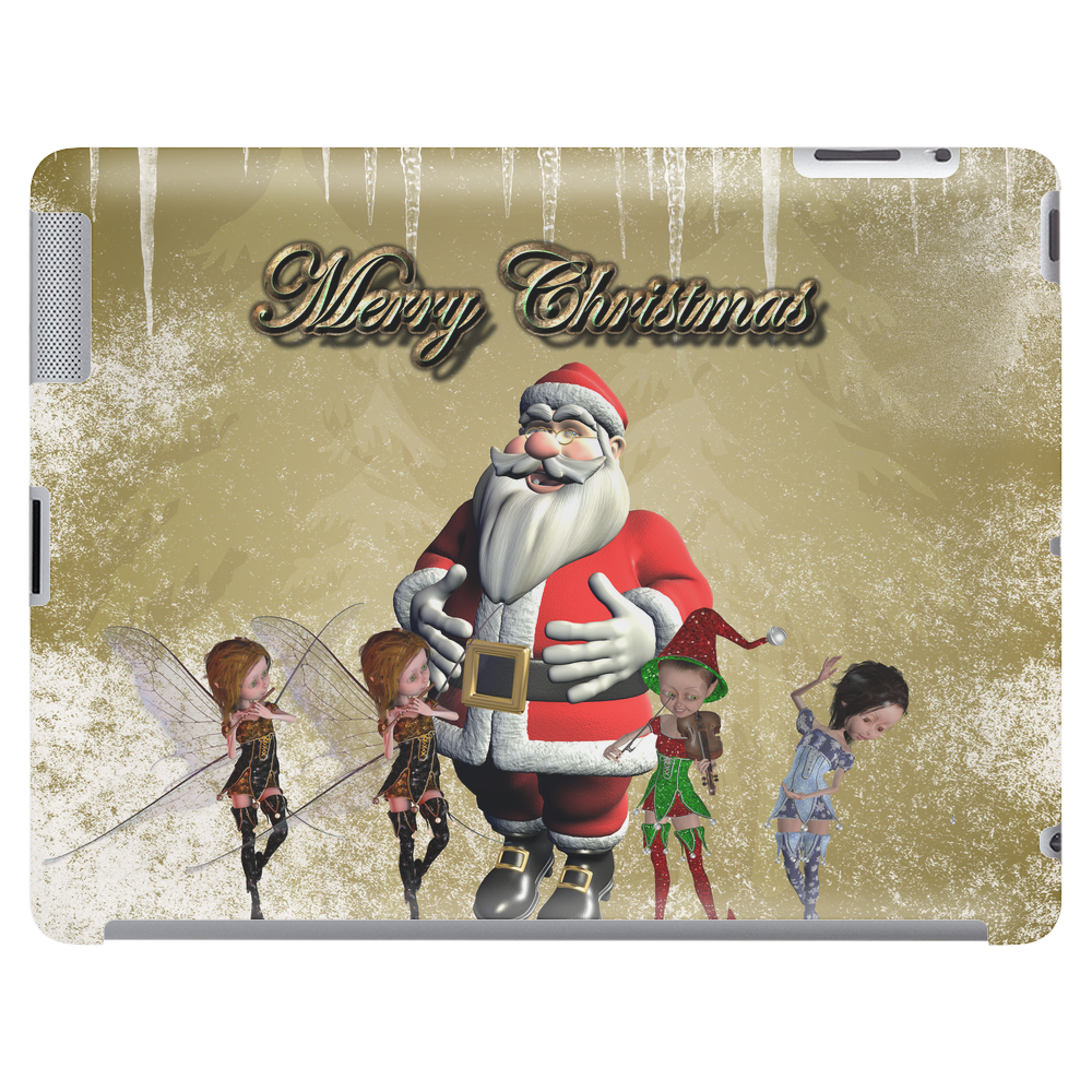 Santa Claus with elfes Tablet (horizontal)
