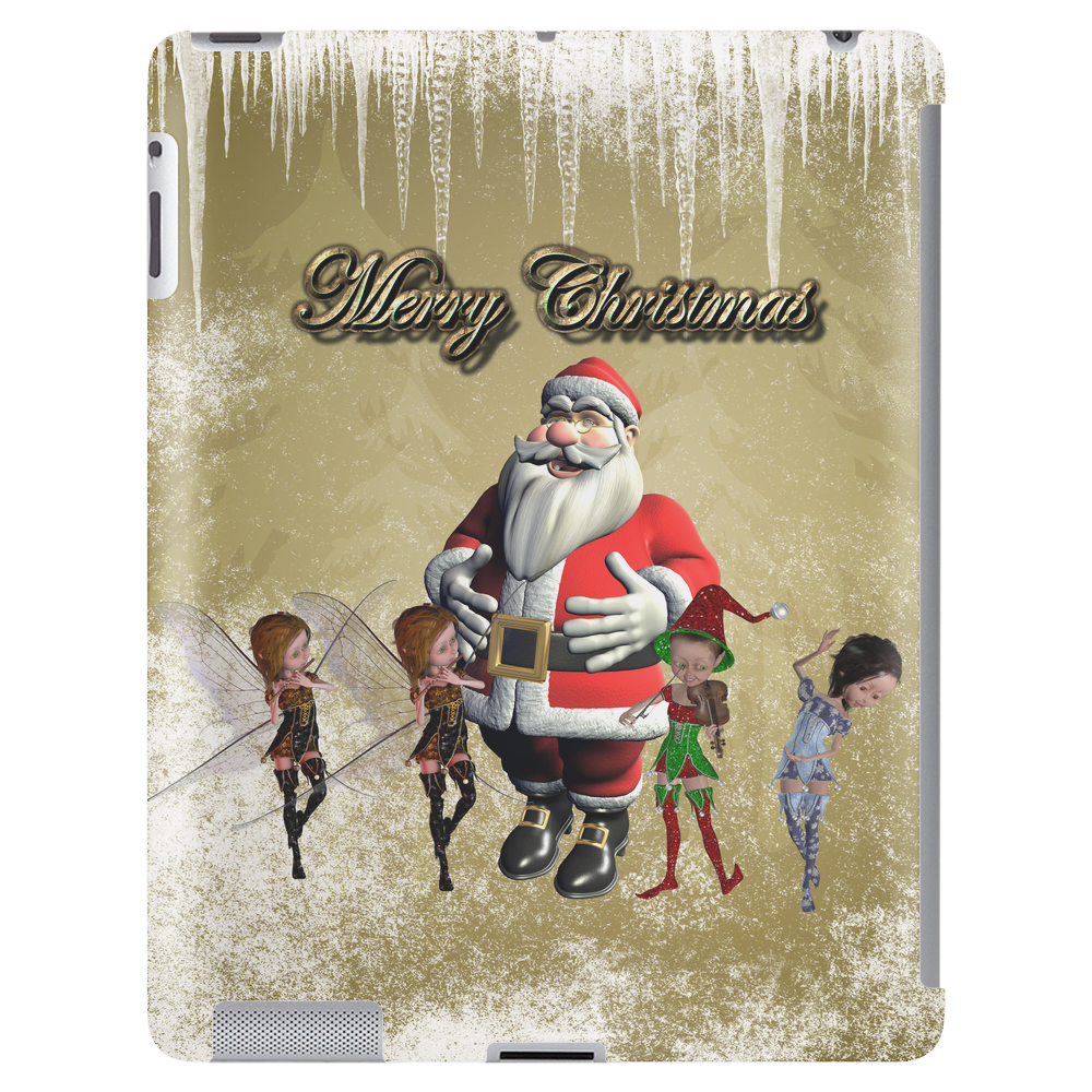 Santa Claus with elfes Tablet (vertical)