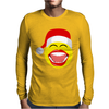 Santa Laughing Smiley Mens Long Sleeve T-Shirt
