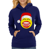 Santa Laughing Smiley Womens Hoodie