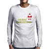 Santa Peeing Merry Christmas Mens Long Sleeve T-Shirt