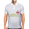 Santa Peeing Merry Christmas Mens Polo