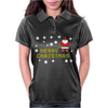 Santa Peeing Merry Christmas Womens Polo