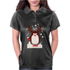 Santa Reindeer Penguin Christmas Womens Polo