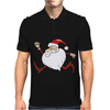 Santa Running For Christmas Mens Polo