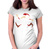Santa Running For Christmas Womens Fitted T-Shirt