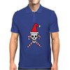Santa Skull and Candy Cane Crossbones Mens Polo