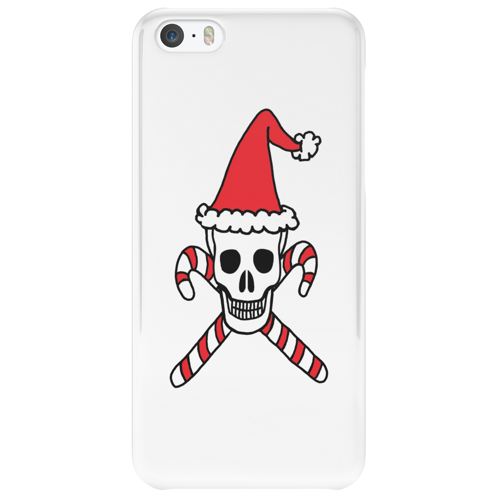 Santa Skull and Candy Cane Crossbones Phone Case