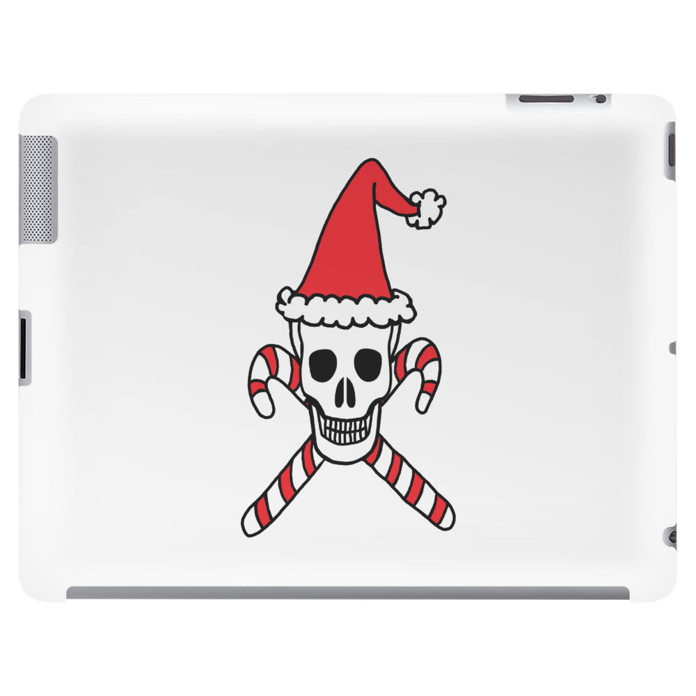 Santa Skull and Candy Cane Crossbones Tablet