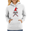 Santa Skull and Candy Cane Crossbones Womens Hoodie