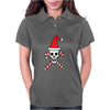 Santa Skull and Candy Cane Crossbones Womens Polo