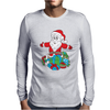 Santa With Piles of Christmas Mens Long Sleeve T-Shirt