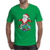 Santa With Piles of Christmas Mens T-Shirt