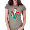 Santa With Piles of Christmas Womens Fitted T-Shirt