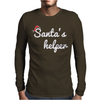 Santa's Helper Cute Christmas Mens Long Sleeve T-Shirt