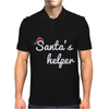 Santa's Helper Cute Christmas Mens Polo
