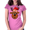 Santa's Reindeer Womens Fitted T-Shirt