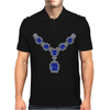 Sapphire and Diamond Necklace Mens Polo