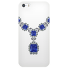 Sapphire and Diamond Necklace Phone Case