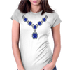 Sapphire and Diamond Necklace Womens Fitted T-Shirt