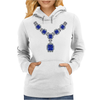 Sapphire and Diamond Necklace Womens Hoodie