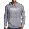 Sarcasm Brain's Natural Defense Against Stupidity Mens Hoodie