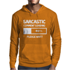 SARCASTIC COMMENT LOADING PLEASE WAIT FUNNY COOL HUMOUR Mens Hoodie