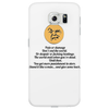 satire humour Pain or damage don't end the world Phone Case