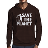 Save The Planet Atheist Mens Hoodie
