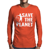 Save The Planet Atheist Mens Long Sleeve T-Shirt