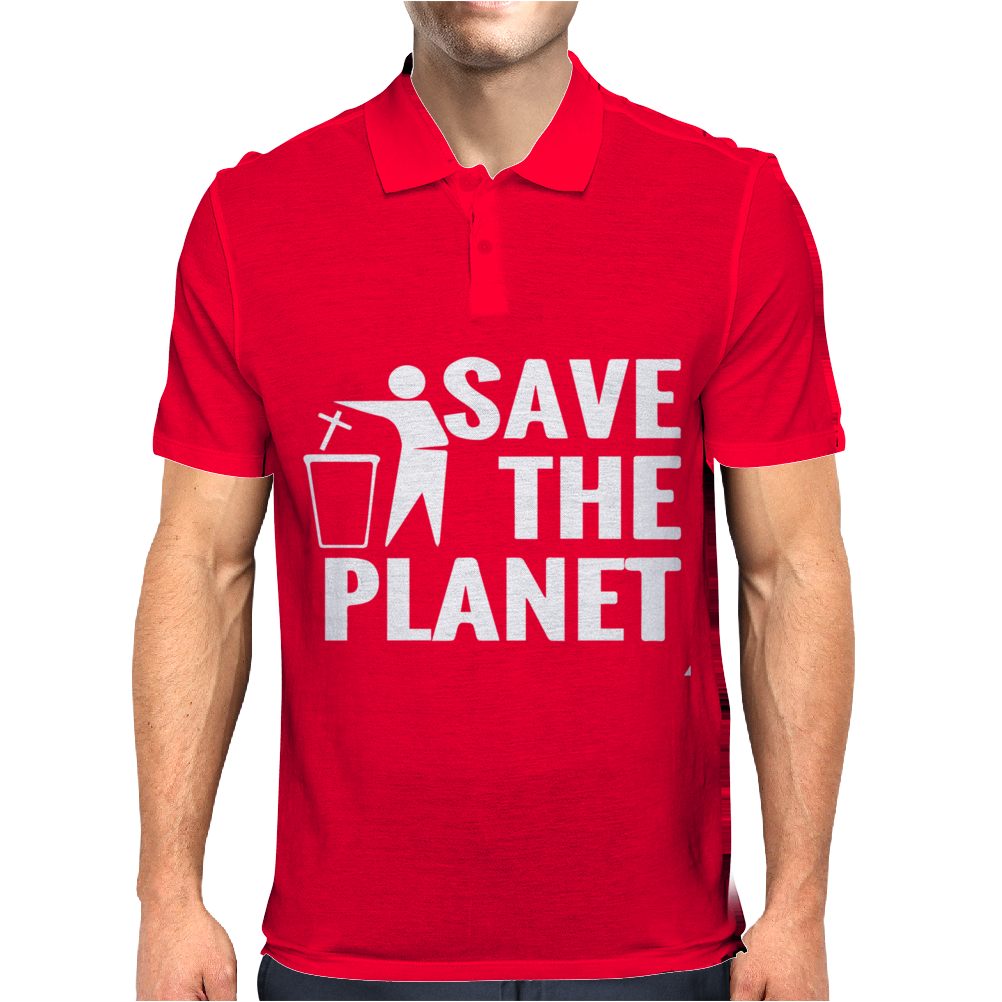 Save The Planet Atheist Mens Polo