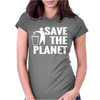 Save The Planet Atheist Womens Fitted T-Shirt