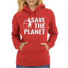 Save The Planet Atheist Womens Hoodie