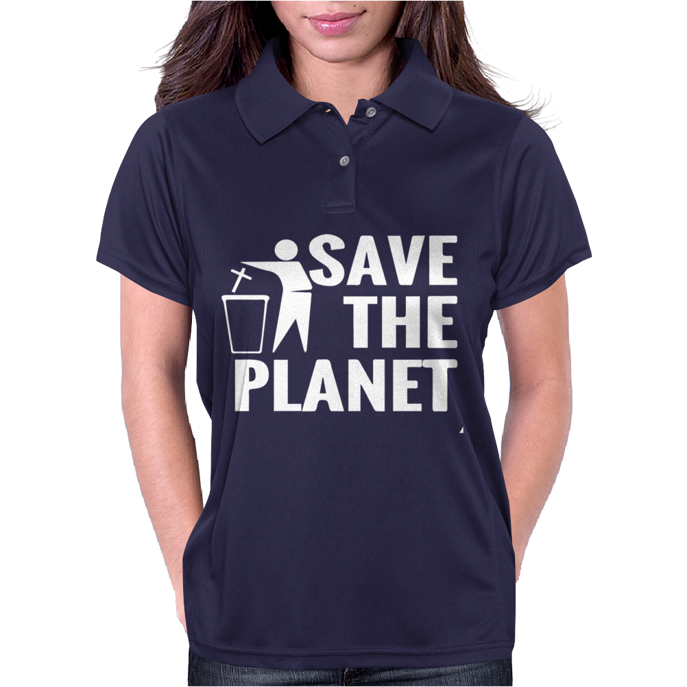 Save The Planet Atheist Womens Polo