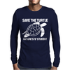 Save The Turtle Mens Long Sleeve T-Shirt