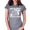 Save The Turtle Womens Fitted T-Shirt