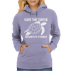Save The Turtle Womens Hoodie