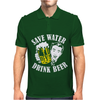 Save Water Drink Beer Mens Polo