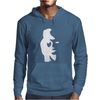 Sax Player Lady face Optical Illusion Mens Hoodie